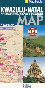 Kwazulu-Natal 1:250.000 9781770265714  Map Studio Leisure Maps  Landkaarten en wegenkaarten Zuid-Afrika