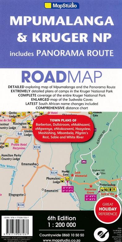 Mpumalanga, Kruger NP + Panorama Route (Map # 4) 9781770267237  Map Studio   Landkaarten en wegenkaarten Zuid-Afrika