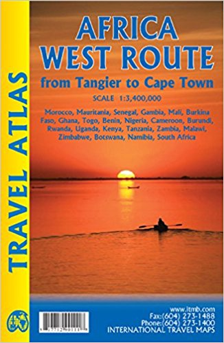 Africa West Route Travel Atlas 9781771290111  ITM   Wegenatlassen Afrika