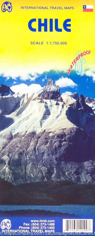 Chili  | landkaart, autokaart 1:1.750.000 9781771292047  ITM   Landkaarten en wegenkaarten Chili, Argentinië, Patagonië