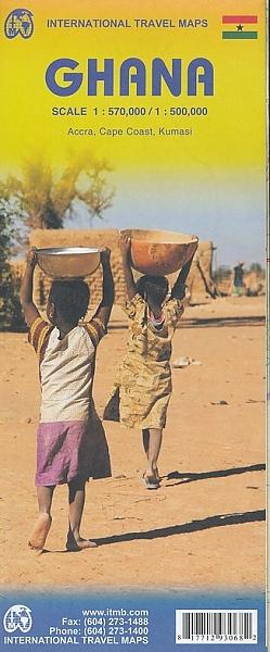 Ghana | landkaart, autokaart 1:500.000 9781771293068  ITM   Landkaarten en wegenkaarten West-Afrikaanse kustlanden (van Senegal tot en met Nigeria)