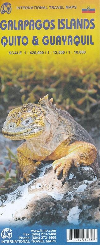 Galapagos | landkaart, autokaart 1:420.000 (waterproof) 9781771293075  ITM   Landkaarten en wegenkaarten Ecuador, Galapagos