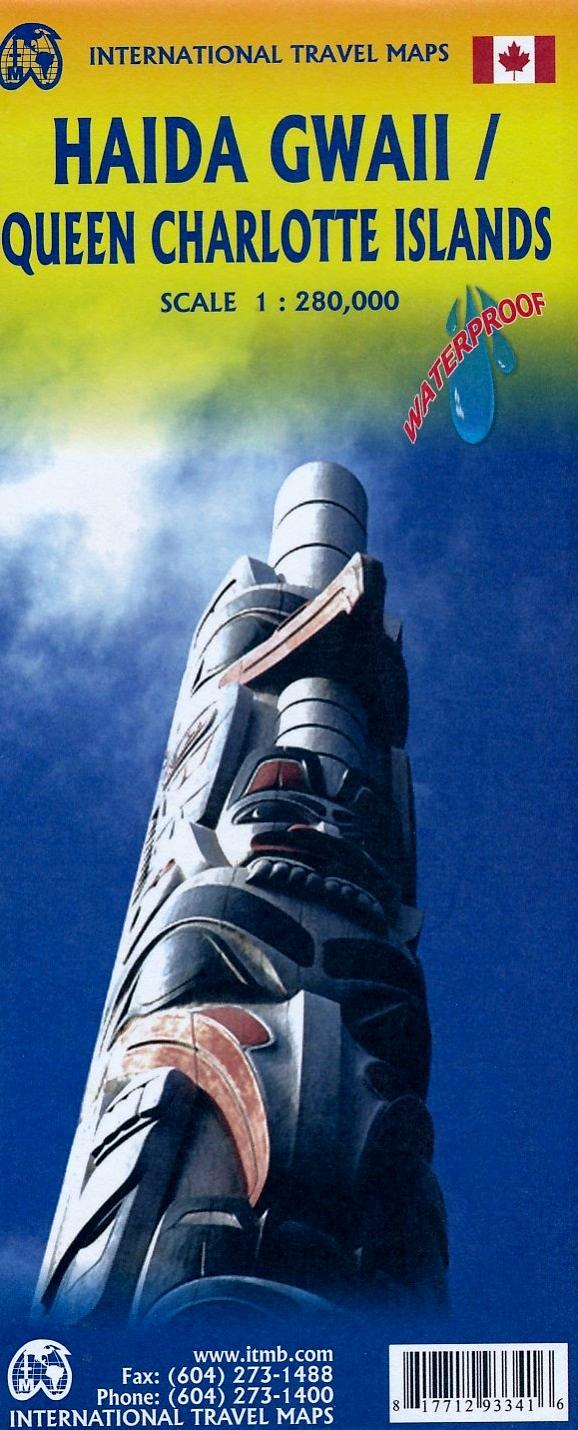 Haida Gwaii, Queen Charlotte Islands | landkaart, autokaart 1:280.000 / 900.000 9781771293341  ITM   Landkaarten en wegenkaarten West-Canada, Rockies