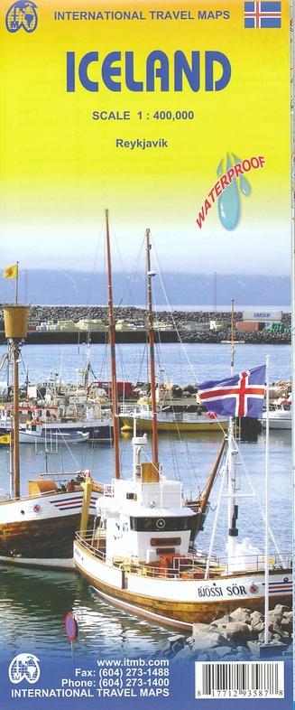 Iceland | landkaart, autokaart 1: 425.000 9781771293587  ITM   Landkaarten en wegenkaarten IJsland
