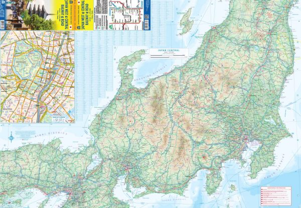 West & Centraal Japan landkaart - autokaart 1:670.000 9781771293860  ITM   Landkaarten en wegenkaarten Japan