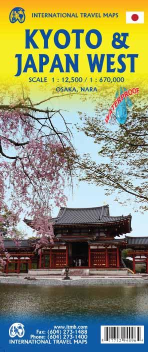 Kyoto 1:12,500 and West Japan 1:670,000 9781771294096  ITM   Landkaarten en wegenkaarten Japan