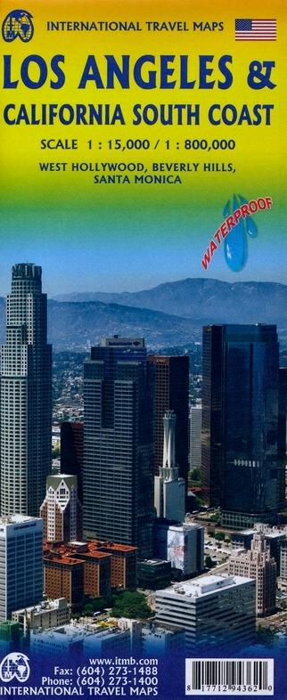 Southern California (1:1M) & Los Angeles (1:15.000) | autokaart, stadsplattegrond 9781771294362  ITM   Landkaarten en wegenkaarten, Stadsplattegronden California, Nevada