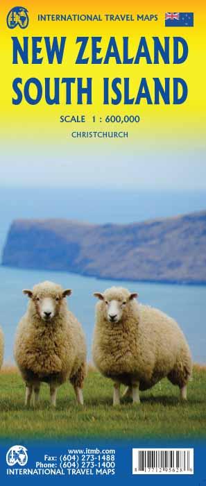 New Zealand, South Island | landkaart, autokaart 1:600.000 9781771295628  ITM   Landkaarten en wegenkaarten Nieuw Zeeland