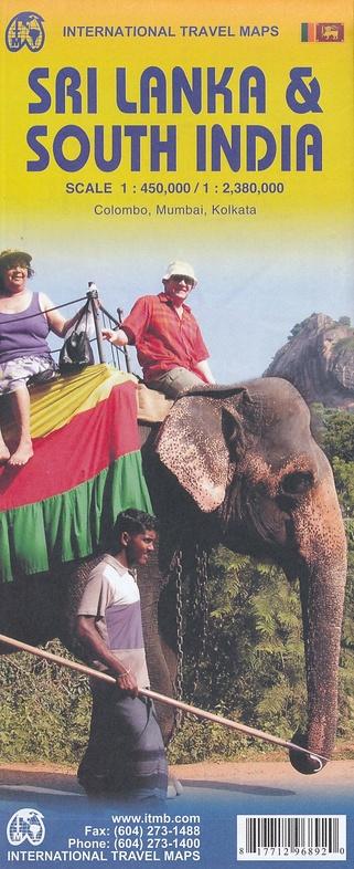 Southern India + Sri Lanka | landkaart, autokaart / waterproof 9781771296892  ITM   Landkaarten en wegenkaarten Sri Lanka