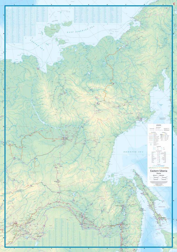 Siberië | landkaart, autokaart 1:3.600.000 9781771296939  ITM   Landkaarten en wegenkaarten Siberië