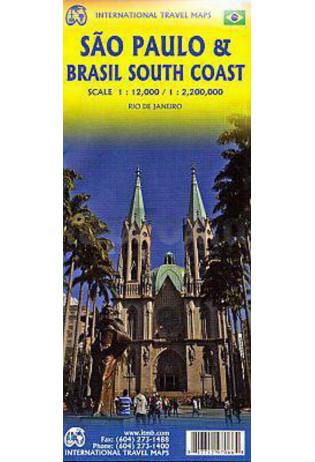 Sao Paulo + Southern Brasil | landkaart, autokaart 1:2.200.000 9781771297066  ITM   Landkaarten en wegenkaarten, Stadsplattegronden Brazilië