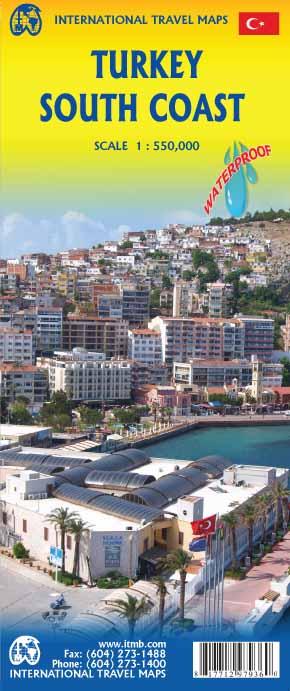 Turkije Zuidkust    landkaart, autokaart 1:550.000 9781771297936  ITM   Landkaarten en wegenkaarten Turkije