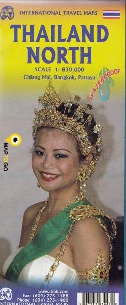 Noord-Thailand | landkaart, autokaart 1:830.000 9781771297943  ITM   Landkaarten en wegenkaarten Thailand