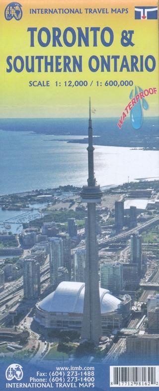 Toronto (1:12.500) and Southern Ontario 1:600.000 | stadsplattegrond, autokaart 9781771298162  ITM   Landkaarten en wegenkaarten, Stadsplattegronden Canada ten oosten van de Rockies