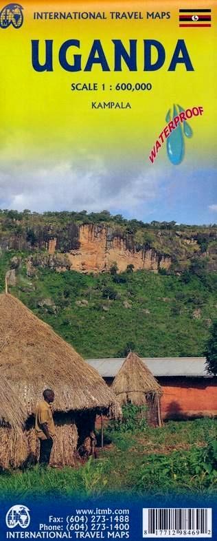 Uganda | landkaart, autokaart 1:600.000 9781771298469  ITM   Landkaarten en wegenkaarten Uganda, Rwanda, Burundi, Ruwenzorigebergte