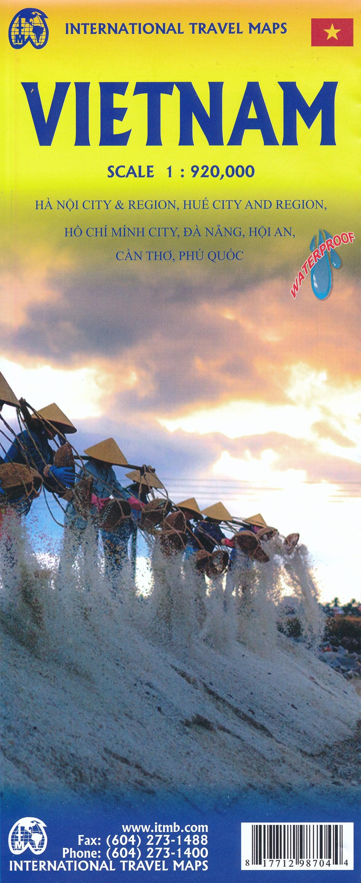 Vietnam | landkaart, autokaart 1:920.000 9781771298704  ITM   Landkaarten en wegenkaarten Vietnam