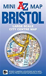Bristol Mini Map 9781782570820  Geographers A-Z Map Co Ltd Street-by-street  Stadsplattegronden Midlands, Cotswolds, Oxford