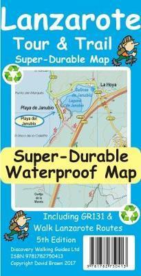 Lanzarote 1:40.000 9781782750413  Discovery Guides Wandelkaarten Spanje  Wandelkaarten Lanzarote