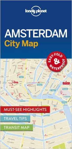 Amsterdam | Lonely Planet City Map 9781786574091  Lonely Planet LP Maps  Stadsplattegronden Amsterdam