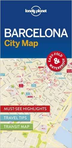 Barcelona | Lonely Planet City Map 9781786574107  Lonely Planet LP Maps  Stadsplattegronden Barcelona