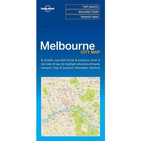 Melbourne | Lonely Planet City Map 9781786575029  Lonely Planet LP Maps  Stadsplattegronden Australië