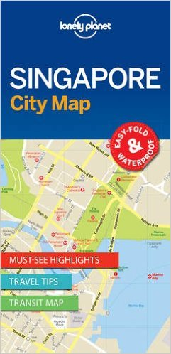 Singapore | Lonely Planet City Map 9781786575074  Lonely Planet LP Maps  Stadsplattegronden Singapore