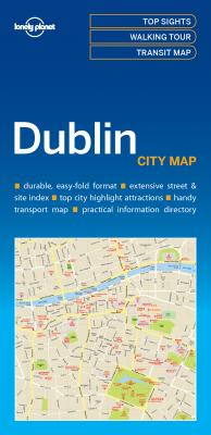 Dublin | Lonely Planet City Map 9781786575081  Lonely Planet LP Maps  Stadsplattegronden Dublin