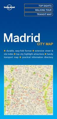 Madrid | Lonely Planet City Map 9781786577856  Lonely Planet LP Maps  Stadsplattegronden Madrid