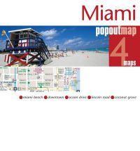 Miami pop out map | stadsplattegrondje in zakformaat 9781845879174  Grantham Book Services PopOut Maps  Stadsplattegronden Florida