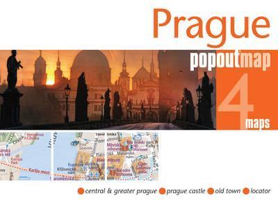 Praag pop out map   stadsplattegrondje in zakformaat 9781845879341  Grantham Book Services PopOut Maps  Stadsplattegronden Tsjechië