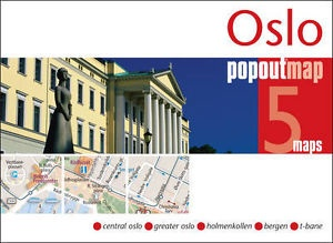 Oslo pop out map | stadsplattegrondje in zakformaat 9781845879594  Grantham Book Services PopOut Maps  Stadsplattegronden Zuid-Noorwegen