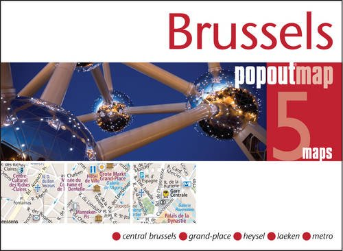 Brussel pop out map | stadsplattegrondje in zakformaat 9781845879655  Grantham Book Services PopOut Maps  Stadsplattegronden Brussel