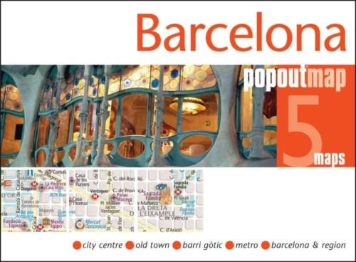 Barcelona pop out map | stadsplattegrondje in zakformaat 9781845879662  Grantham Book Services PopOut Maps  Stadsplattegronden Barcelona