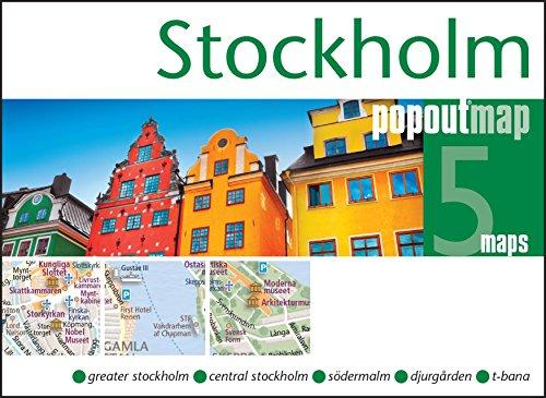 Stockholm pop out map | stadsplattegrondje in zakformaat 9781845879877  Grantham Book Services PopOut Maps  Stadsplattegronden Zuid-Zweden