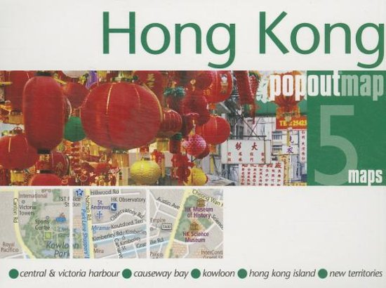 Hong Kong pop out map | stadsplattegrondje in zakformaat 9781845879921  Grantham Book Services PopOut Maps  Stadsplattegronden China (Tibet: zie Himalaya)