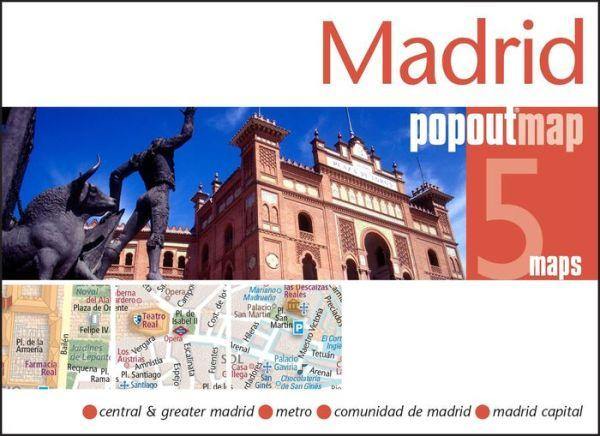 Madrid pop out map | stadsplattegrondje in zakformaat 9781845879969  Grantham Book Services PopOut Maps  Stadsplattegronden Madrid