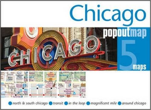 Chicago pop out map | stadsplattegrondje in zakformaat 9781845879983  Grantham Book Services PopOut Maps  Stadsplattegronden Grote Meren, Chicago, Centrale VS –Noord