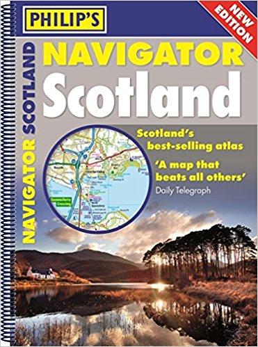 Philip's Navigator Scotland 9781849074339  Octopus - Philips   Wegenatlassen Schotland
