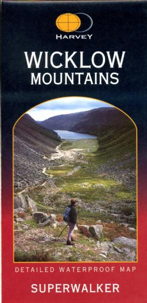 Wicklow Mountains | wandelkaart 1:30.000 9781851373833  Harvey Maps   Wandelkaarten Wicklow Mountains, Leinster