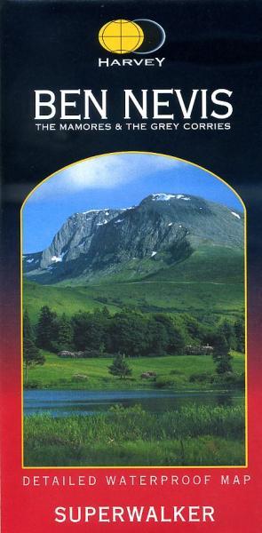 Ben Nevis | wandelkaart 1:25.000 9781851374021  Harvey Maps   Wandelkaarten de Schotse Hooglanden (ten noorden van Glasgow / Edinburgh)