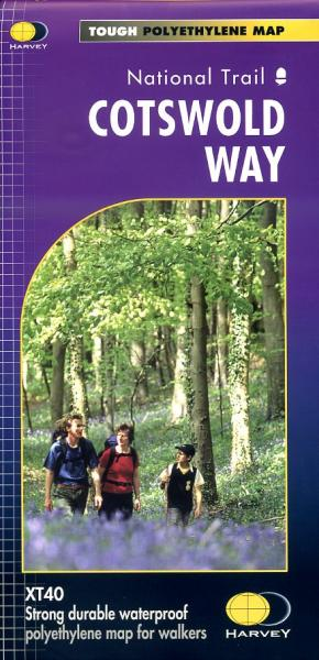 The Cotswold Way | wandelkaart 1:40.000 9781851374182  Harvey Maps   Meerdaagse wandelroutes, Wandelkaarten Midlands, Cotswolds, Oxford