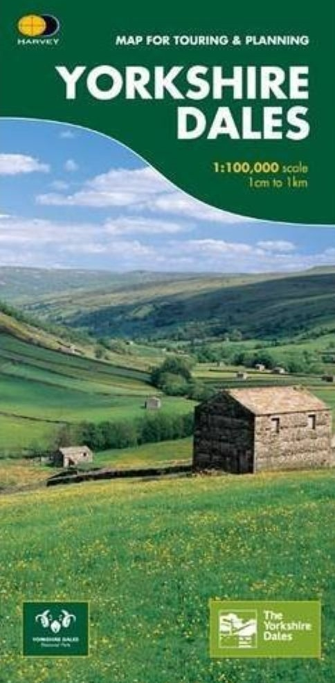 Yorkshire Dales 1:100.000 9781851374335  Harvey Maps   Fietskaarten, Landkaarten en wegenkaarten Northumberland, Yorkshire Dales & Moors, Peak District, Isle of Man