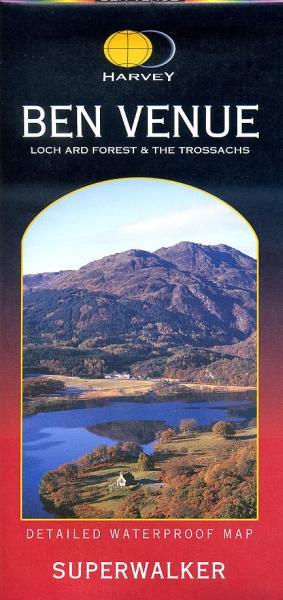 Ben Venue | wandelkaart 1:25.000 9781851374618  Harvey Maps   Wandelkaarten de Schotse Hooglanden (ten noorden van Glasgow / Edinburgh)