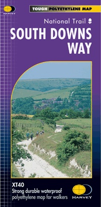South Downs Way | wandelkaart 1:40.000 9781851374779  Harvey Maps   Meerdaagse wandelroutes, Wandelkaarten Kent, Sussex, Isle of Wight