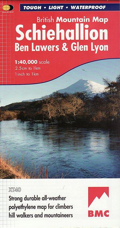 Schiehallion BMC Mountain Map | wandelkaart 1:40.000 9781851375110  Harvey Maps   Wandelkaarten de Schotse Hooglanden (ten noorden van Glasgow / Edinburgh)