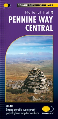 Pennine Way Central | wandelkaart 1:40.000 9781851375202  Harvey Maps   Meerdaagse wandelroutes, Wandelkaarten Northumberland, Yorkshire Dales & Moors, Peak District, Isle of Man