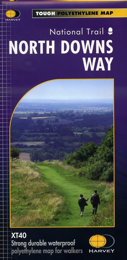 North Downs Way | wandelkaart 1:40.000 9781851375295  Harvey Maps   Meerdaagse wandelroutes, Wandelkaarten Kent, Sussex, Isle of Wight