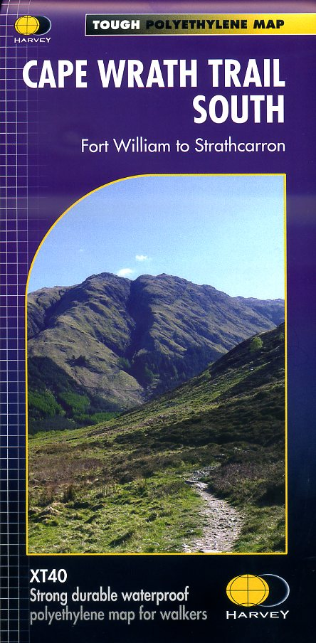 Cape Wrath Trail South | wandelkaart 1:40.000 9781851375349  Harvey Maps   Meerdaagse wandelroutes, Wandelkaarten de Schotse Hooglanden (ten noorden van Glasgow / Edinburgh)
