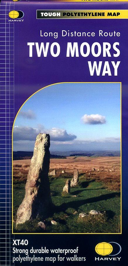 Two Moors Way | wandelkaart 1:40.000 9781851375431  Harvey Maps   Meerdaagse wandelroutes, Wandelkaarten Cornwall, Devon, Somerset, Dorset