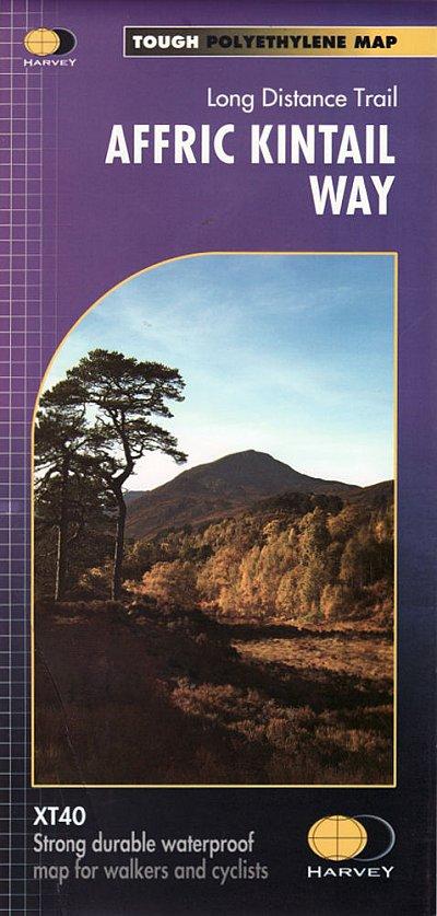 Affric Kintail Way | wandelkaart 1:40.000 9781851375530  Harvey Maps   Meerdaagse wandelroutes, Wandelkaarten de Schotse Hooglanden (ten noorden van Glasgow / Edinburgh)